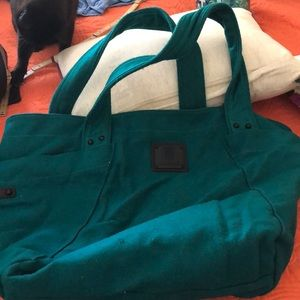 Felt teal colored carry-all